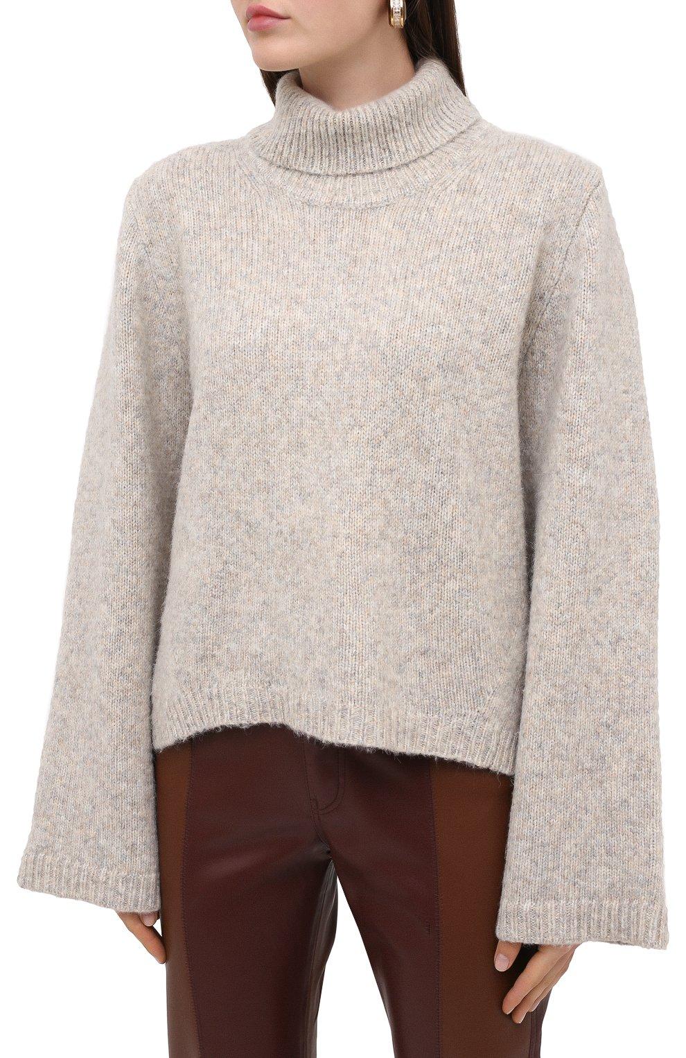 Женский шерстяной свитер TOTÊME светло-серого цвета, арт. RAVENNA 203-584-764 | Фото 3