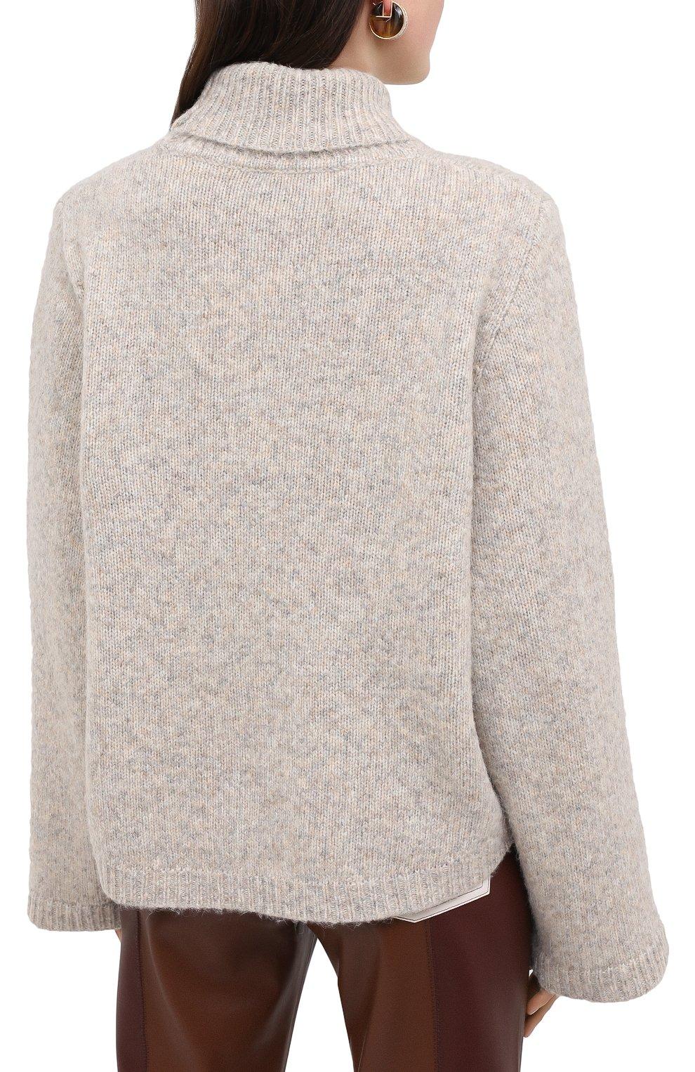 Женский шерстяной свитер TOTÊME светло-серого цвета, арт. RAVENNA 203-584-764 | Фото 4