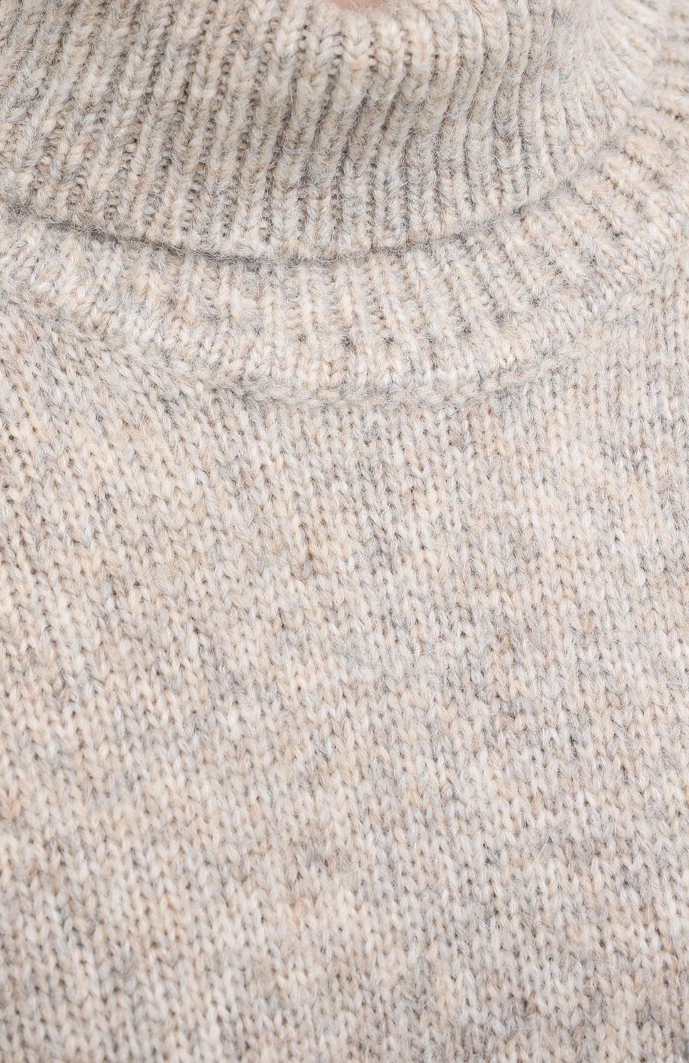 Женский шерстяной свитер TOTÊME светло-серого цвета, арт. RAVENNA 203-584-764 | Фото 5