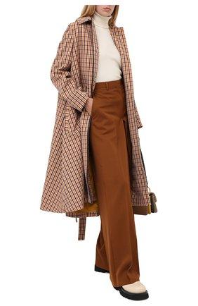 Женские шерстяные брюки LANVIN коричневого цвета, арт. RW-TR510U-4576-A20 | Фото 2