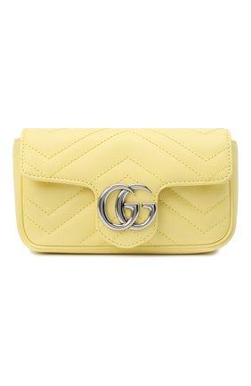 Женская сумка supermini GUCCI желтого цвета, арт. 476433/DTDCP | Фото 1