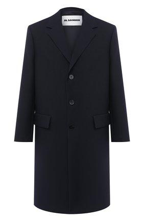 Мужской шерстяное пальто JIL SANDER темно-синего цвета, арт. JSMR105001-MR201400   Фото 1