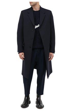 Мужской шерстяное пальто JIL SANDER темно-синего цвета, арт. JSMR105001-MR201400 | Фото 2