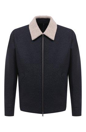 Мужская шерстяная куртка HARRIS WHARF LONDON темно-синего цвета, арт. C9341MLK-W | Фото 1