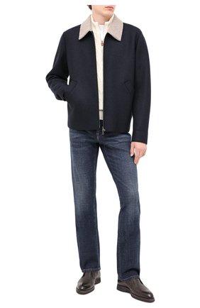 Мужская шерстяная куртка HARRIS WHARF LONDON темно-синего цвета, арт. C9341MLK-W | Фото 2