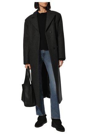 Женские замшевые ботинки SANTONI черного цвета, арт. WUYA58457NERAPFRN01 | Фото 2
