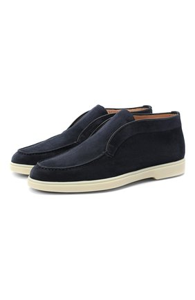 Женские замшевые ботинки SANTONI темно-синего цвета, арт. WUYA58458TISNPYLU60 | Фото 1