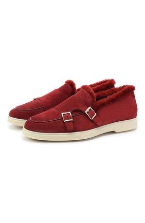 Женские замшевые ботинки SANTONI красного цвета, арт. WUYA58865TISAPFRB46 | Фото 1