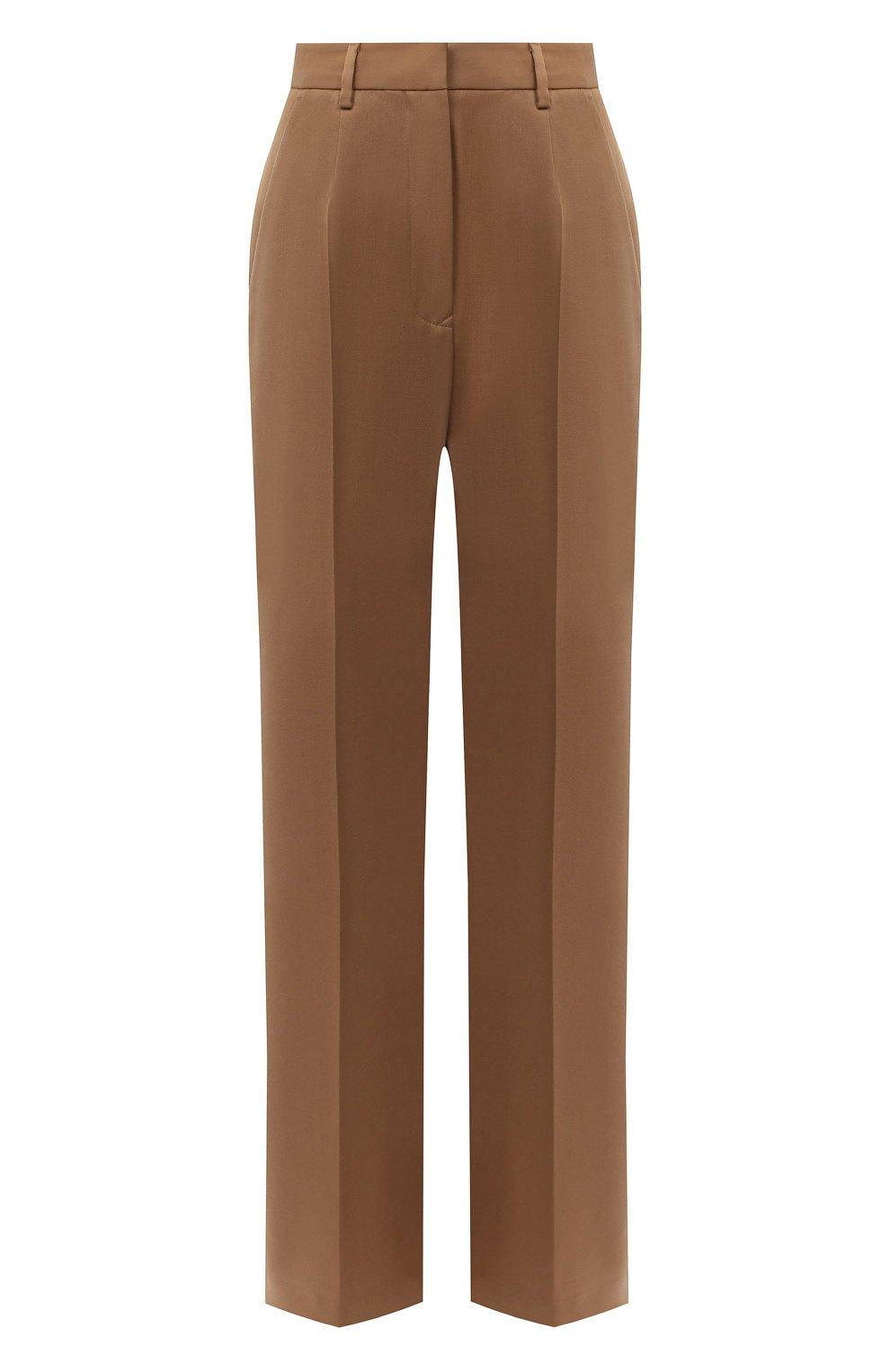 Женские брюки MM6 коричневого цвета, арт. S32KA0634/S47848   Фото 1