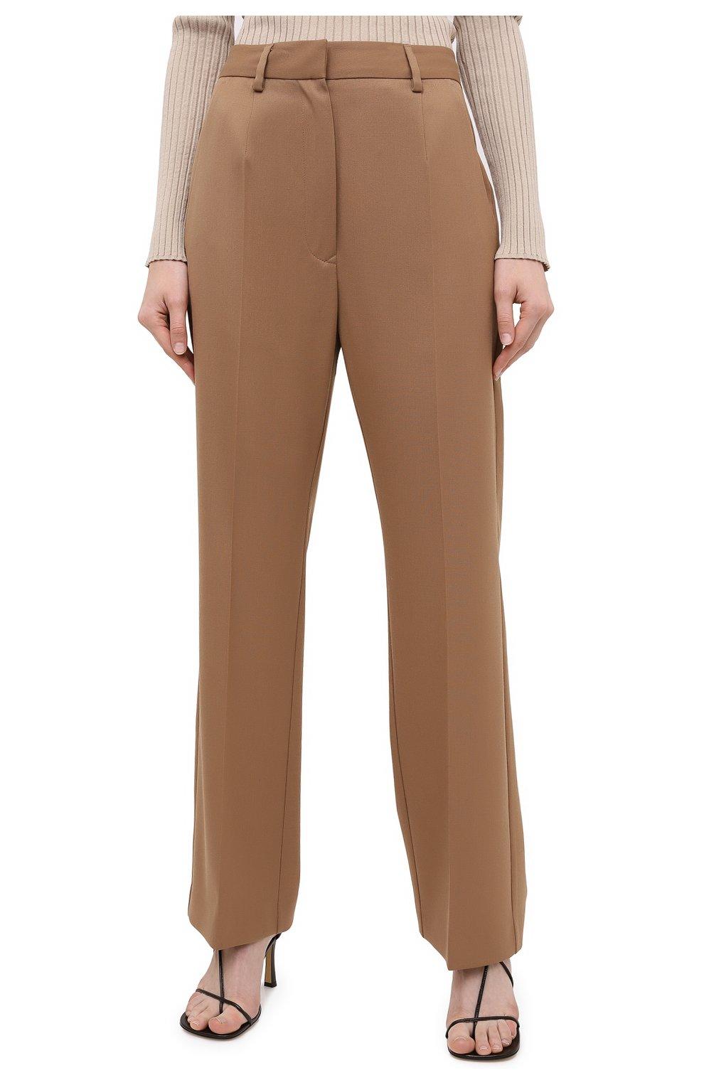 Женские брюки MM6 коричневого цвета, арт. S32KA0634/S47848   Фото 3