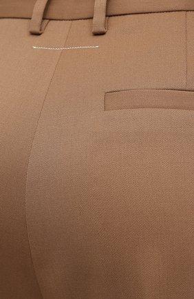 Женские брюки MM6 коричневого цвета, арт. S32KA0634/S47848   Фото 5