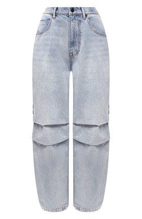Женские джинсы DENIM X ALEXANDER WANG голубого цвета, арт. 4DC2194485   Фото 1