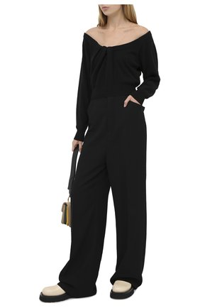 Женский пуловер из шерсти и вискозы ALEXANDER WANG черного цвета, арт. 1KC2201003   Фото 2