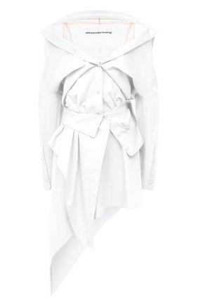 Женское хлопковое платье ALEXANDER WANG белого цвета, арт. 1WC2206324 | Фото 1