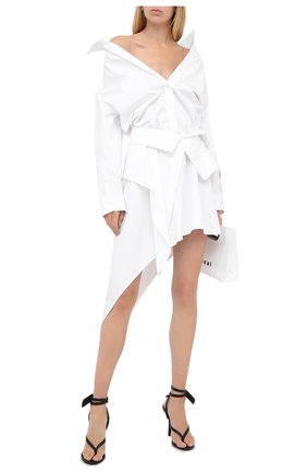 Женское хлопковое платье ALEXANDER WANG белого цвета, арт. 1WC2206324 | Фото 2