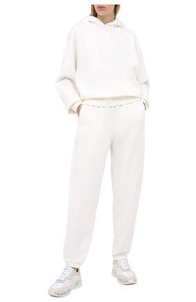 Женский хлопковое худи ALEXANDERWANG.T белого цвета, арт. 4CC1202025 | Фото 2