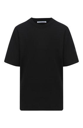 Женская футболка из хлопка и вискозы ALEXANDERWANG.T черного цвета, арт. 4CC2201156 | Фото 1