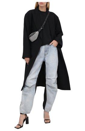 Женская футболка из хлопка и вискозы ALEXANDERWANG.T черного цвета, арт. 4CC2201156 | Фото 2