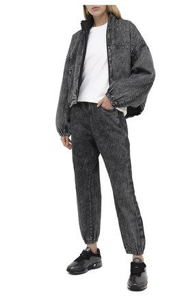 Женская джинсовая куртка DENIM X ALEXANDER WANG серого цвета, арт. 4DC2202731   Фото 2