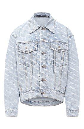 Женская джинсовая куртка DENIM X ALEXANDER WANG голубого цвета, арт. 4DC2202756   Фото 1