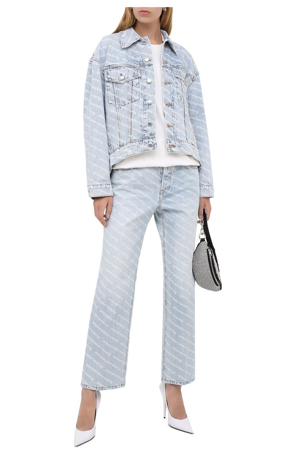 Женская джинсовая куртка DENIM X ALEXANDER WANG голубого цвета, арт. 4DC2202756 | Фото 2
