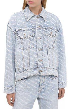 Женская джинсовая куртка DENIM X ALEXANDER WANG голубого цвета, арт. 4DC2202756 | Фото 3