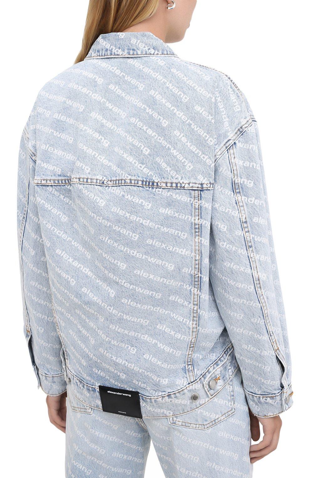 Женская джинсовая куртка DENIM X ALEXANDER WANG голубого цвета, арт. 4DC2202756 | Фото 4