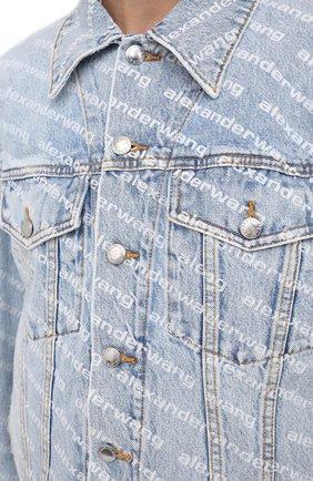 Женская джинсовая куртка DENIM X ALEXANDER WANG голубого цвета, арт. 4DC2202756 | Фото 5