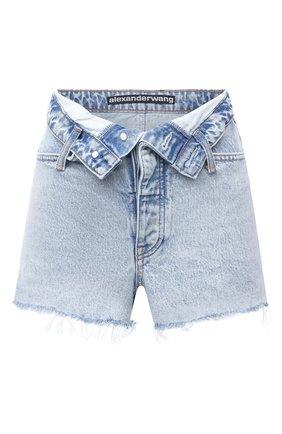 Женские джинсовые шорты DENIM X ALEXANDER WANG голубого цвета, арт. 4DC2204768 | Фото 1