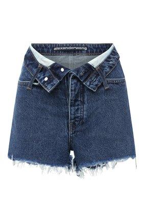 Женские джинсовые шорты DENIM X ALEXANDER WANG синего цвета, арт. 4DC2204769 | Фото 1