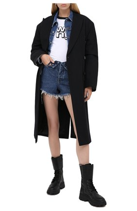 Женские джинсовые шорты DENIM X ALEXANDER WANG синего цвета, арт. 4DC2204769 | Фото 2