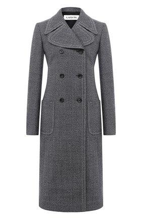 Женское шерстяное пальто LANVIN темно-синего цвета, арт. RW-C0107T-4584-A20 | Фото 1
