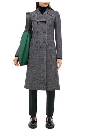 Женское шерстяное пальто LANVIN темно-синего цвета, арт. RW-C0107T-4584-A20 | Фото 2