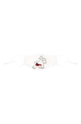Детского набор из пяти масок для лица LANVIN белого цвета, арт. AW-SI0M00-BGYM-P21 | Фото 5