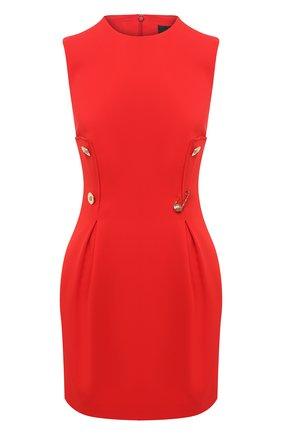 Женское платье из вискозы VERSACE красного цвета, арт. A87297/A208429   Фото 1