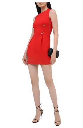 Женское платье из вискозы VERSACE красного цвета, арт. A87297/A208429   Фото 2