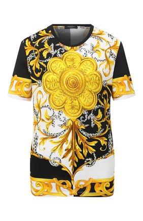 Женская хлопковая футболка VERSACE разноцветного цвета, арт. A87458/A236028 | Фото 1