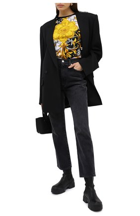 Женская хлопковая футболка VERSACE разноцветного цвета, арт. A87458/A236028 | Фото 2