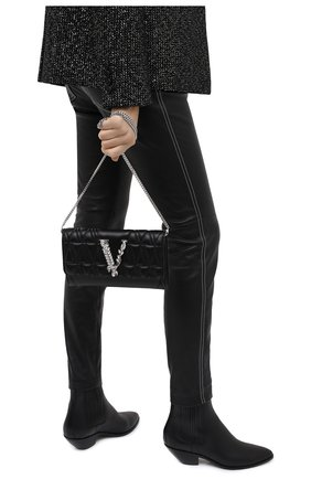 Женская сумка virtus VERSACE черного цвета, арт. DBSG377V/DNATR5S | Фото 2