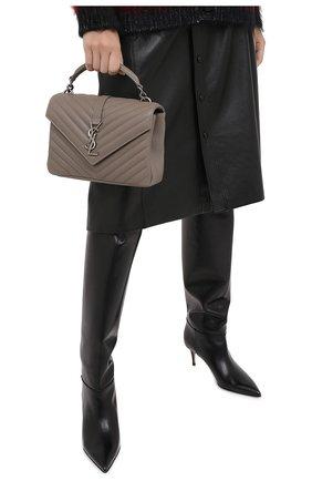 Женская сумка monogram college medium SAINT LAURENT серого цвета, арт. 600279/BRM04 | Фото 2