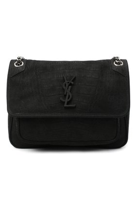 Женская сумка niki medium SAINT LAURENT черного цвета, арт. 633150/DM60D | Фото 1
