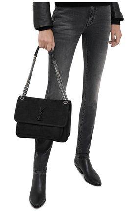 Женская сумка niki medium SAINT LAURENT черного цвета, арт. 633150/DM60D | Фото 2