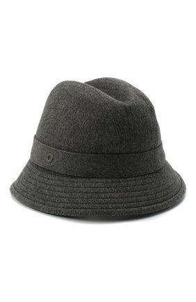 Женская кашемировая шляпа LORO PIANA серого цвета, арт. FAL2348 | Фото 1 (Материал: Кашемир, Шерсть)