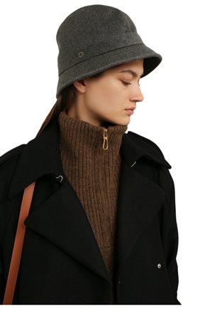 Женская кашемировая шляпа LORO PIANA серого цвета, арт. FAL2348 | Фото 2 (Материал: Кашемир, Шерсть)