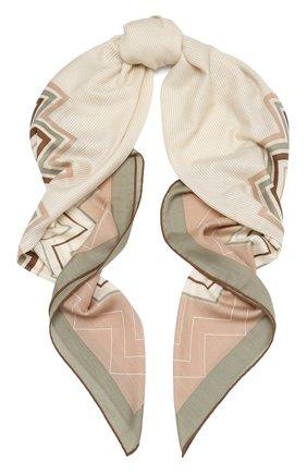 Женская шаль из кашемира и шелка LORO PIANA бежевого цвета, арт. FAL3514 | Фото 1