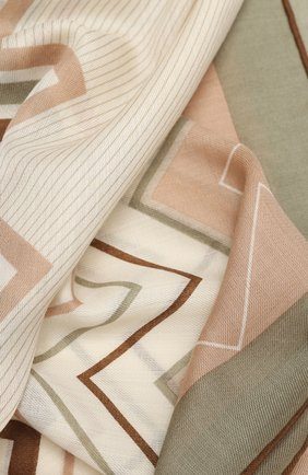 Женская шаль из кашемира и шелка LORO PIANA бежевого цвета, арт. FAL3514 | Фото 2