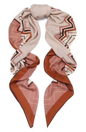Женская шаль из кашемира и шелка LORO PIANA красного цвета, арт. FAL3514 | Фото 1