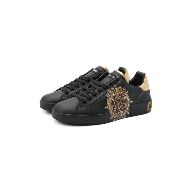 Кожаные кеды Portofino Dolce & Gabbana