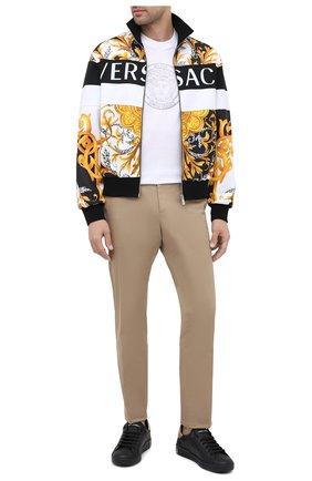 Мужские кожаные кеды portofino DOLCE & GABBANA черного цвета, арт. CS1760/B5768 | Фото 2