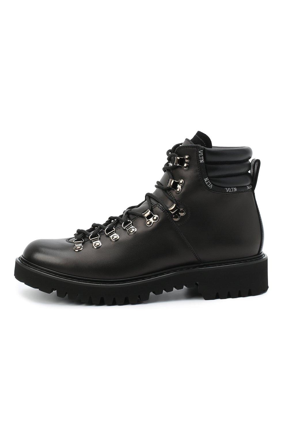 Мужские кожаные ботинки valentino garavani VALENTINO черного цвета, арт. UY2S0D70/AKJ | Фото 3
